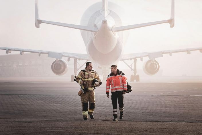 Airbus Beluga Werksfeuerwehr Übung © Hermann Jansen