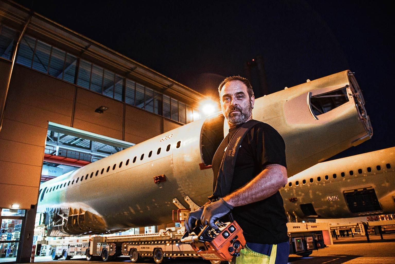 Mitarbeiterfoto Taktcrew Airbus © Hermann Jansen