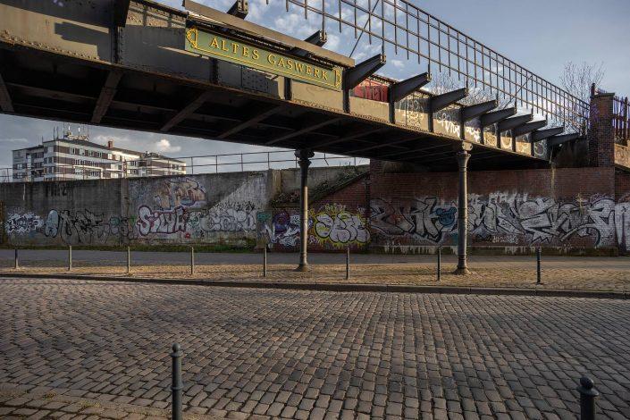 Brücke Altes Gaswerk in der Gasstraße Hamburg © Hermann Jansen
