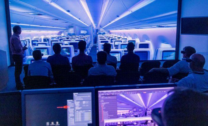 Airbus Cabin Interior Demonstration via VR Virtual Reality 3D © Hermann Jansen