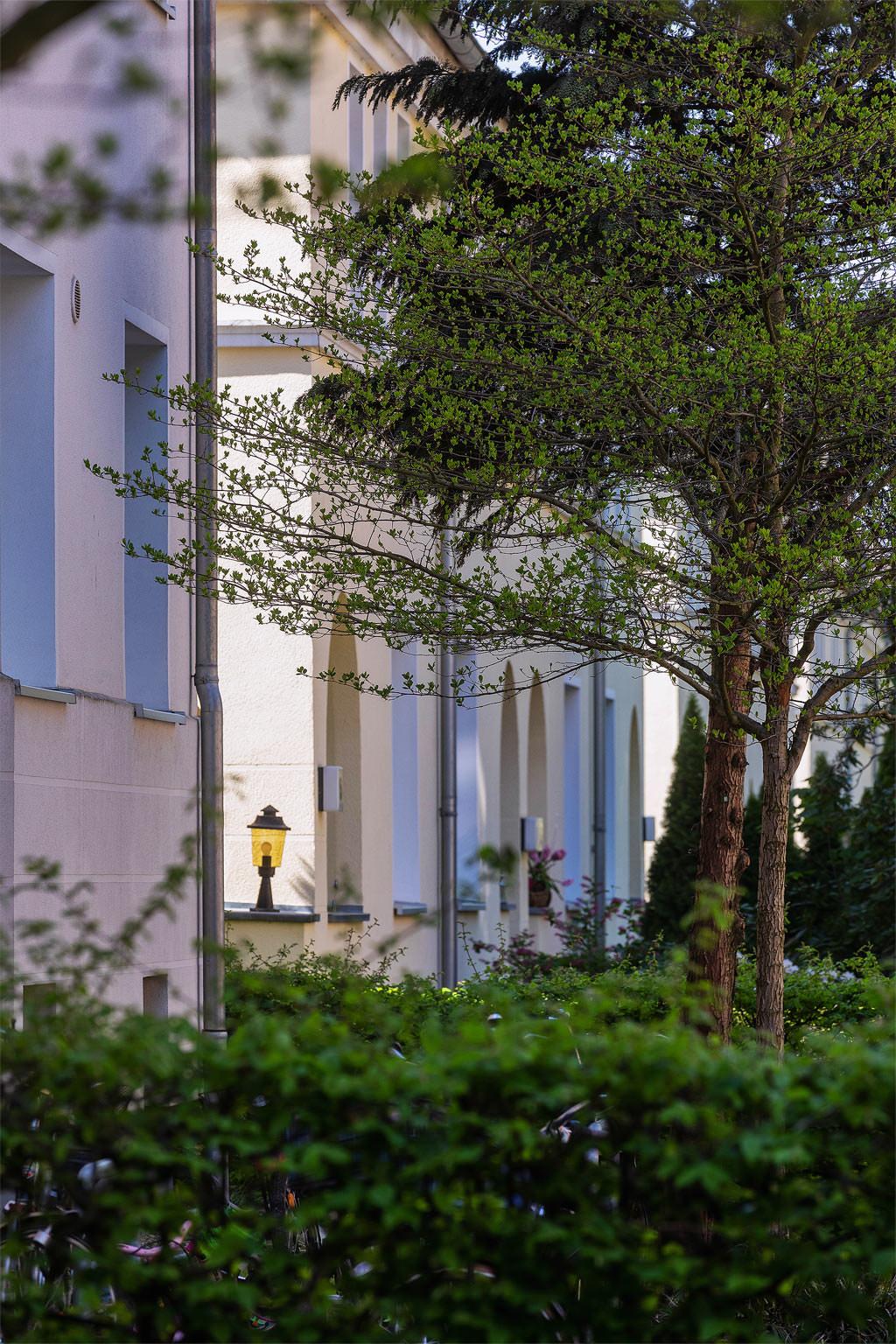 Häuserzeile der Baugenossenschaft Fuhlsbüttel © Hermann Jansen